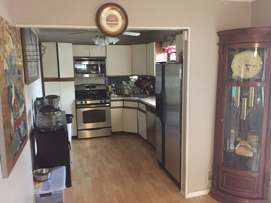 Kitchen area open for coffee and use of kitchen