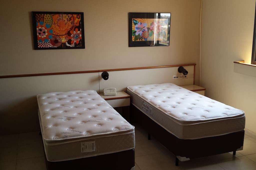 Opção com 2 camas de solteiro