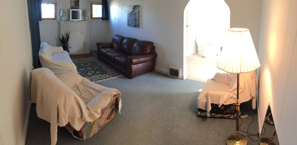 Living room, the second of 2 common areas.