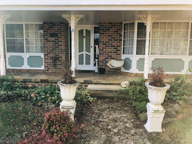 """Front door of """"Cedar Lodge"""""""