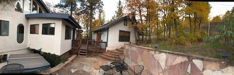 Guest house in oak trees