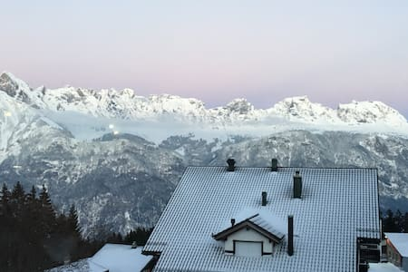 Large apartment with direct access to ski slopes - Flums - アパート