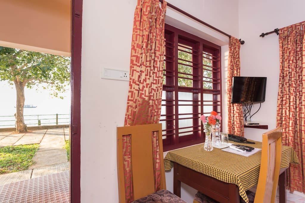 View of the beautiful Lake Vembanad from your bedroom itself.