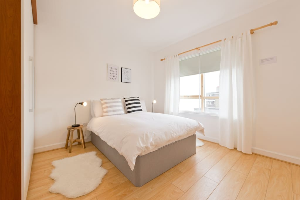 Bedroom 2 B including Egyptian cotton bed sheets and goose down feather duvets.