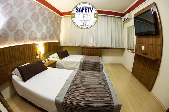 Flat amplo e confortável (duas camas) em Campinas.