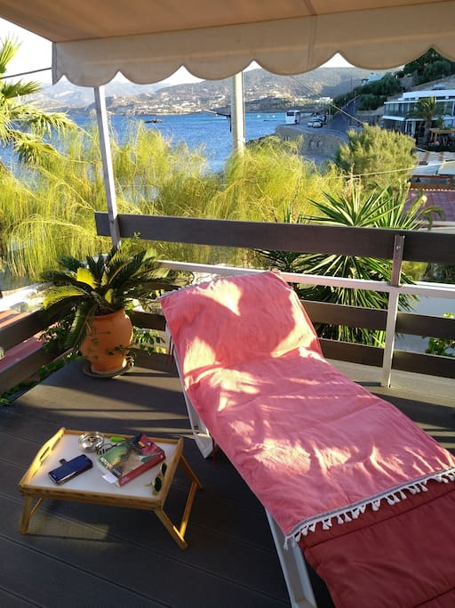Relaxing moments in Studio's private terrace