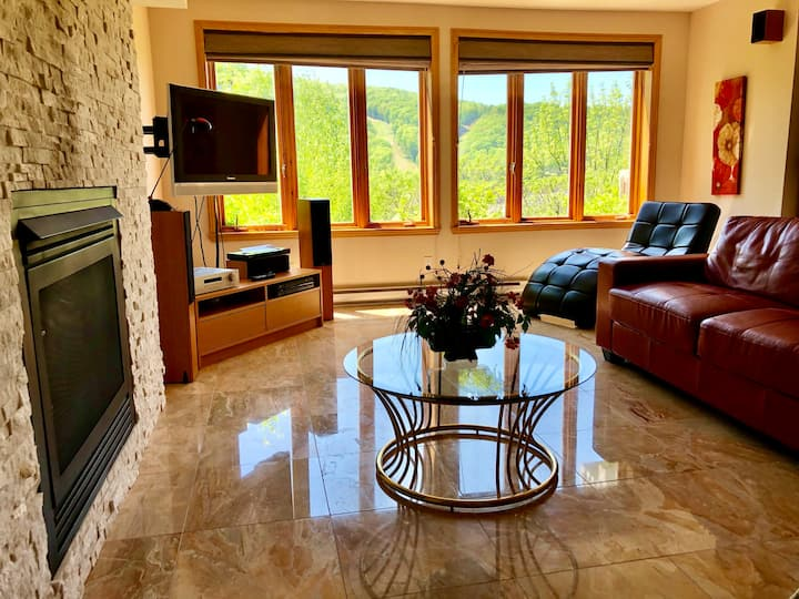 Mountain view 2-bedroom condo for fall getaway