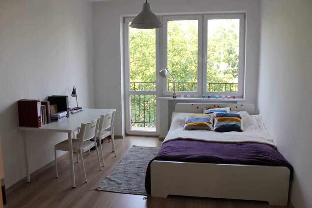 Podwójna sypialnia z balkonem