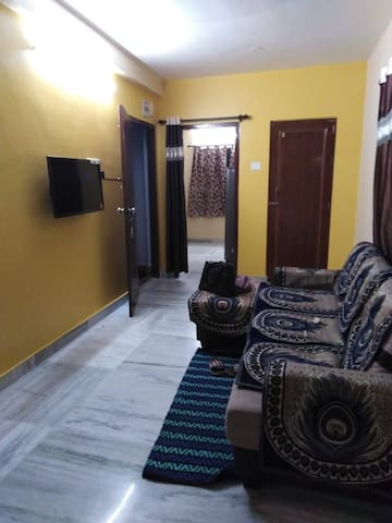 Furnished apartment with plush amenities.