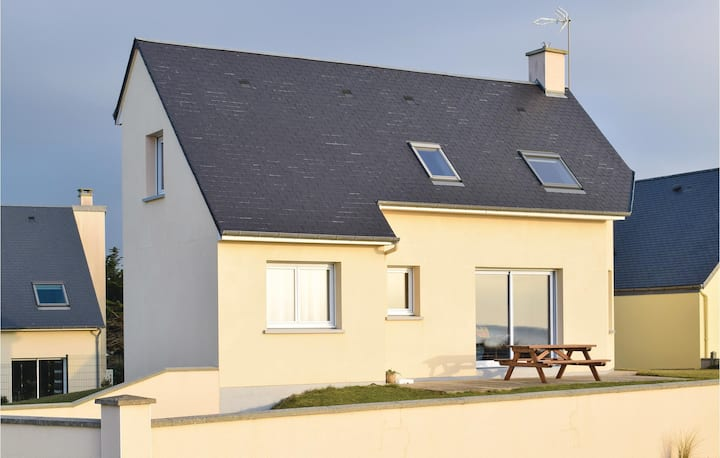 Stunning home in Saint-Germain-sur-Ay with 3 Bedrooms and WiFi