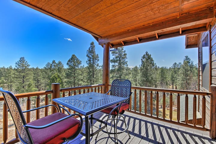 NEW Show Low Cabin+Loft w/Huge Deck on Golf Course