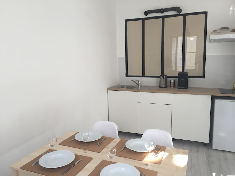 Salon avec cuisine