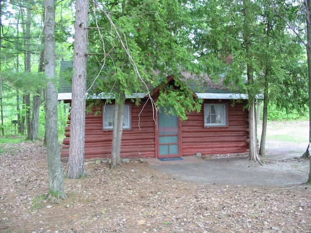 Ellis Lake Resort - Maple Log Cabin-Interlochen
