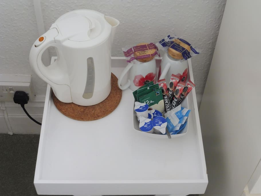 Complementary Biscuites with Tea and Coffee Making Facilities provided daily