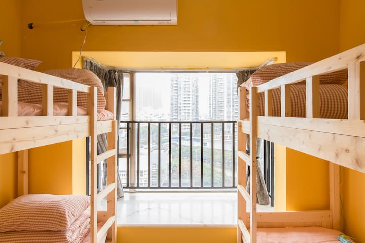 1/4 bunk D @Hull's Cattery: Cat-Theme caffee + b&b - Shenzhen - Apartamento
