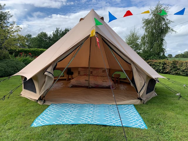 Bell Tent for Hire 4m. Camp wherever in Ireland
