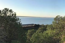 A view of Swan Bay and the historic steam train seen from the walking path. Steam train rides available every weekend and school holidays. Perfect family fun.