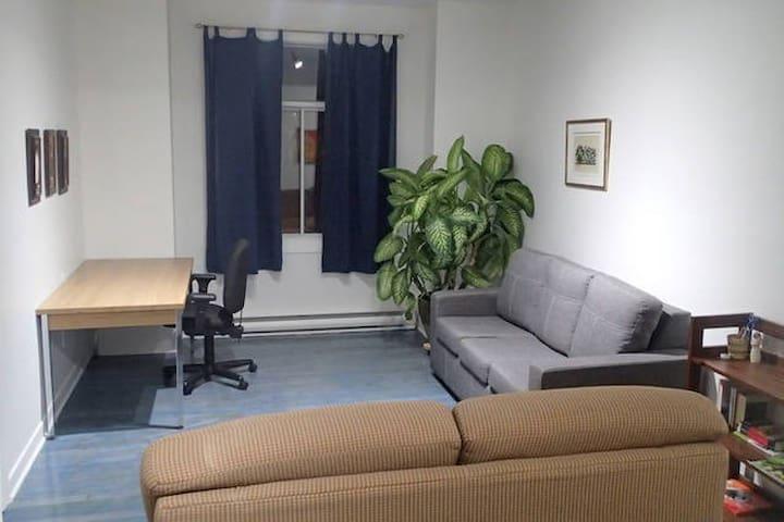 Chambre avec salon à 10 min du métro et du CUSM