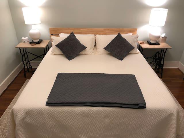 Comfy King bed in East Bedroom.
