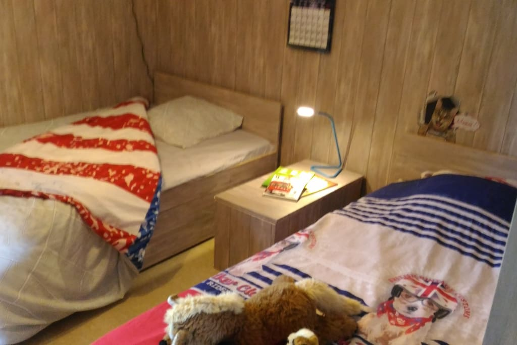 Chambre , 1 lit 140x190 + 1 lit 90 x190