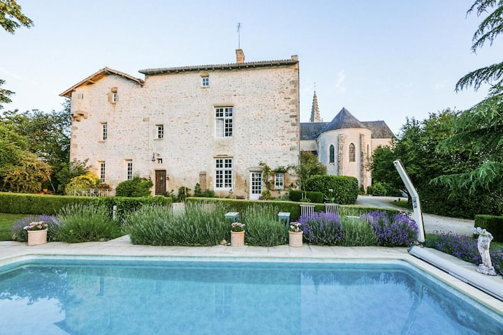 Uniquely French Mediaeval Priory (Sleeps 16)
