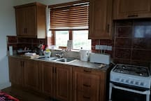 The fully equipped kitchen has everything you need to whip up a 4 course meal!