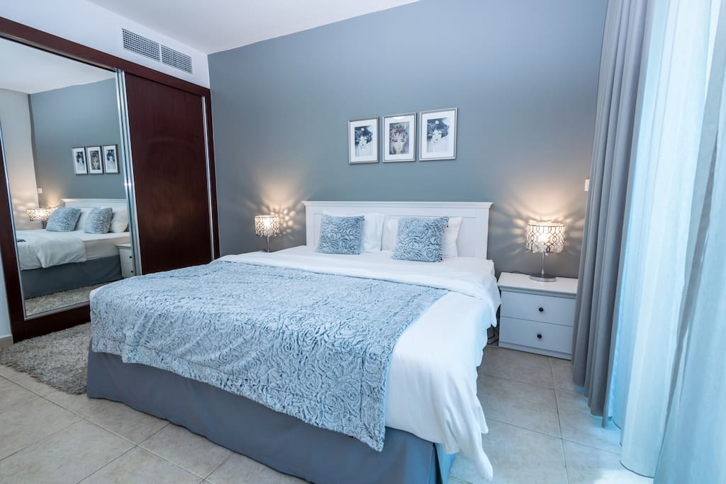 Master bedroom with private bathroom/shower