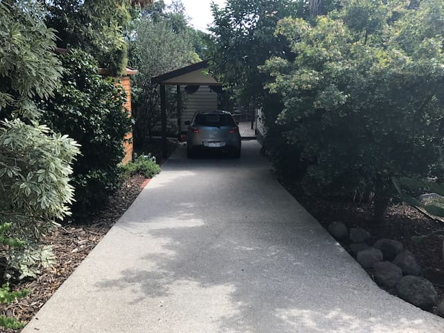 Independent entrance, bungalow at end of driveway.