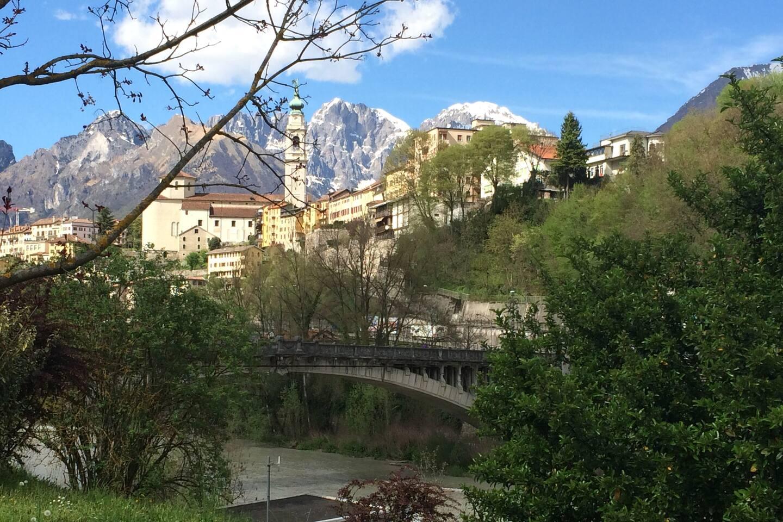 Belluno from the river