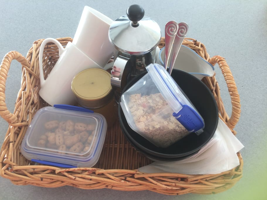 Breakfast Basket deliveried to your tent