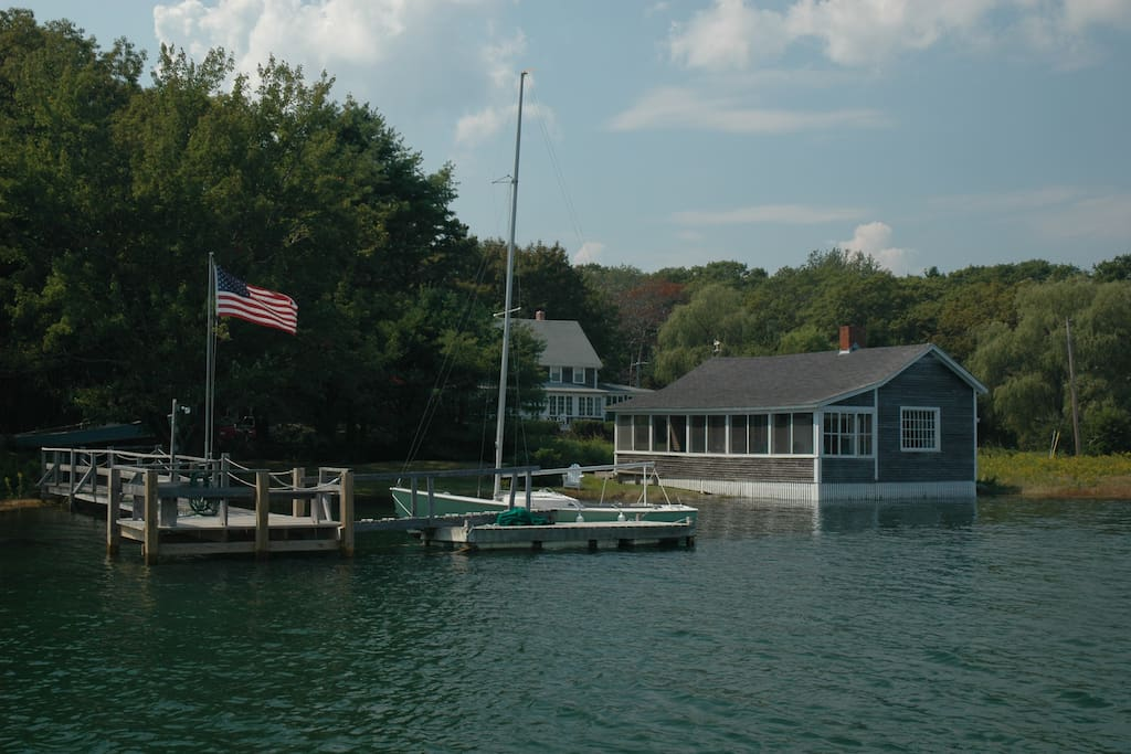 Cottage and Pier and Float