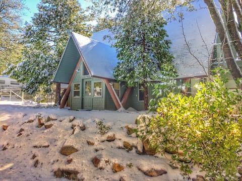 A Frame Cabin in a Vintage Trailer Park