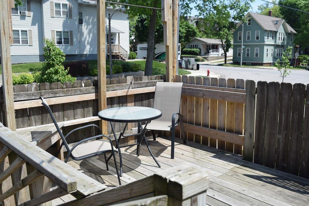 2nd floor outdoor shared deck!