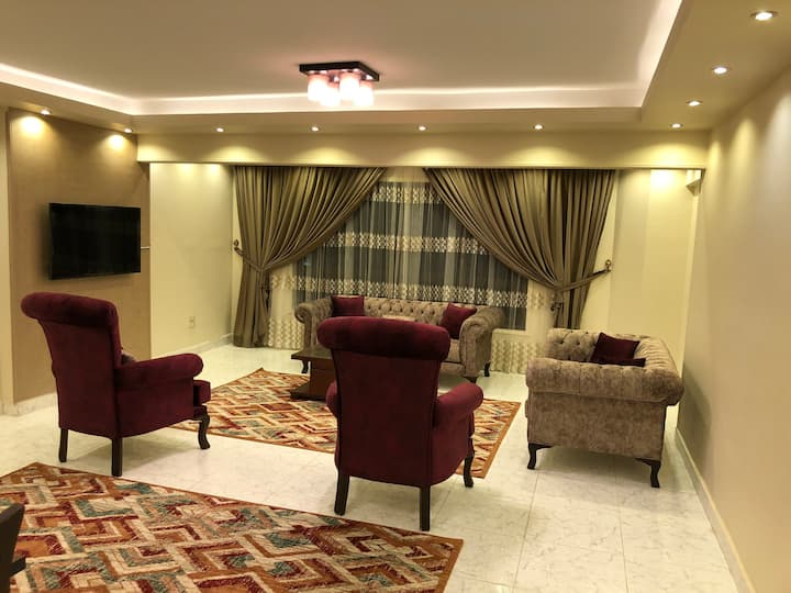 A fully furnished apartment nearby Abbas Akkad St.