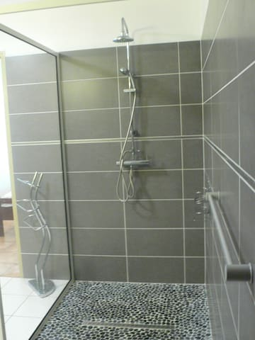 douche à l'Italienne très spacieuse