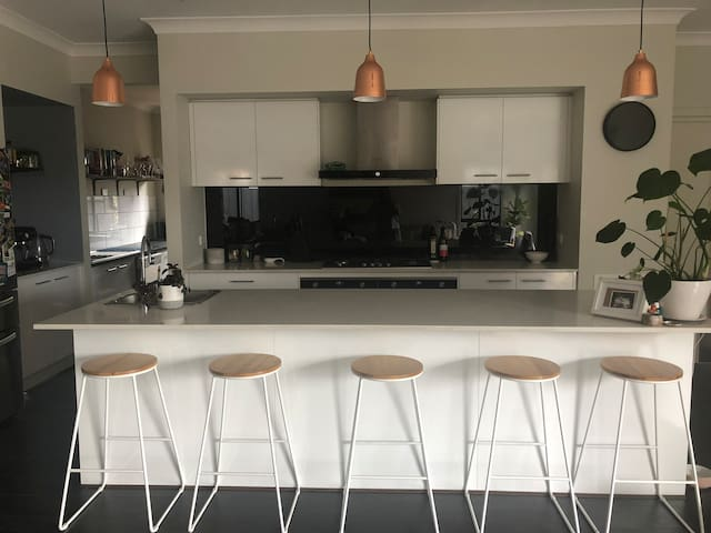 Shared kitchen space with owner