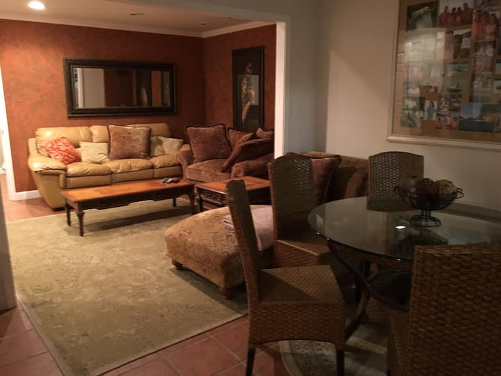spacious and modern furnished basement apartment
