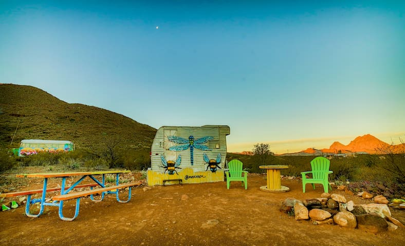 "Tin Valley Retro Rentals ""Dragonfly"" - Terlingua"