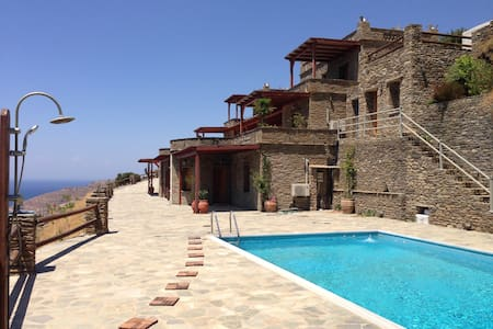 luxurious sea view condo with swimming pool - Andros