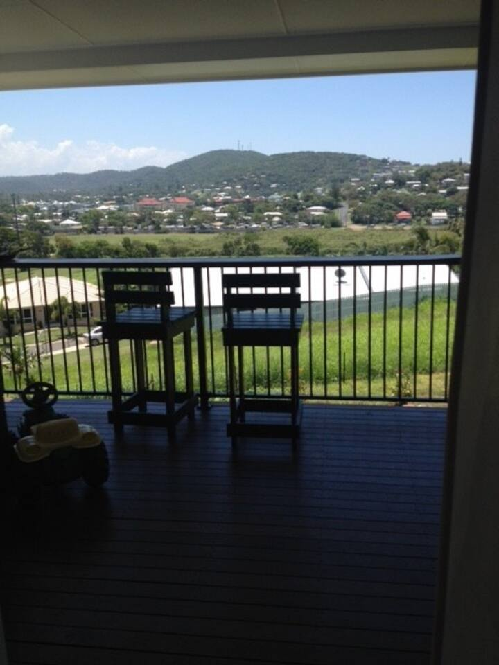 Looking out from guest room over Yeppoon township