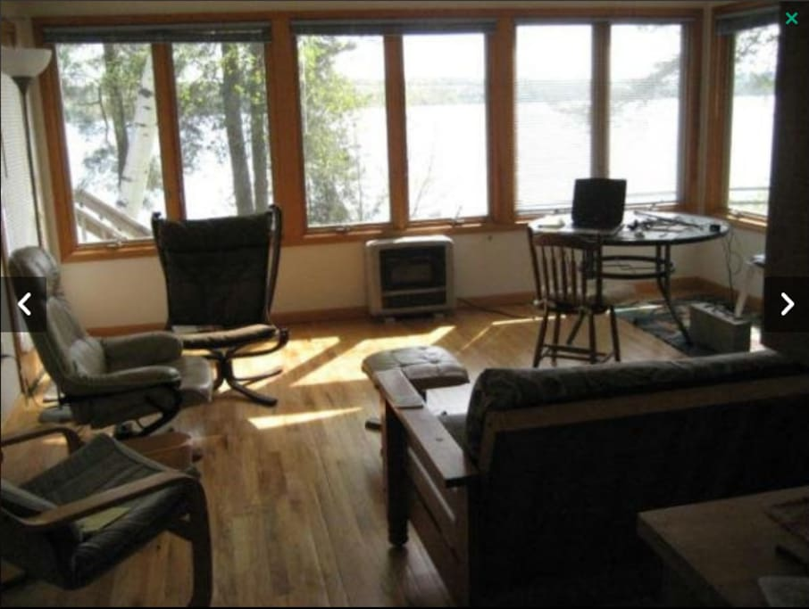 Living room overlooking the lake
