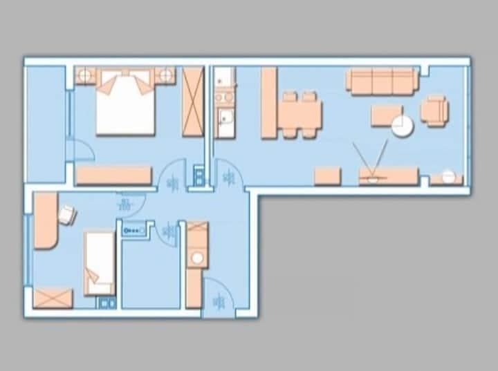 Spacious luxury flat