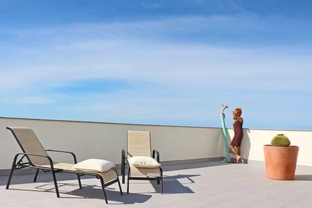 Großzügiges Penthouse mit gigantischem Meerblickk - Tazacorte - Wohnung
