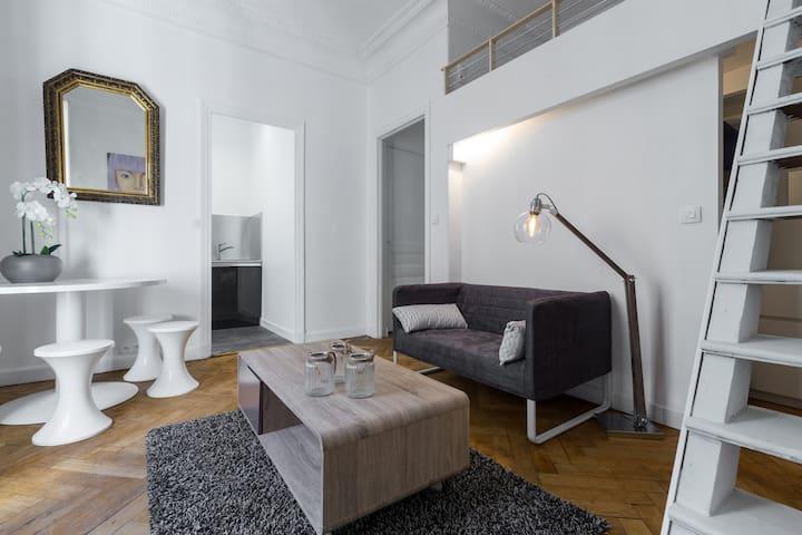 Calm and Cozy Studio 26 m2 with balcony, wifi, TV