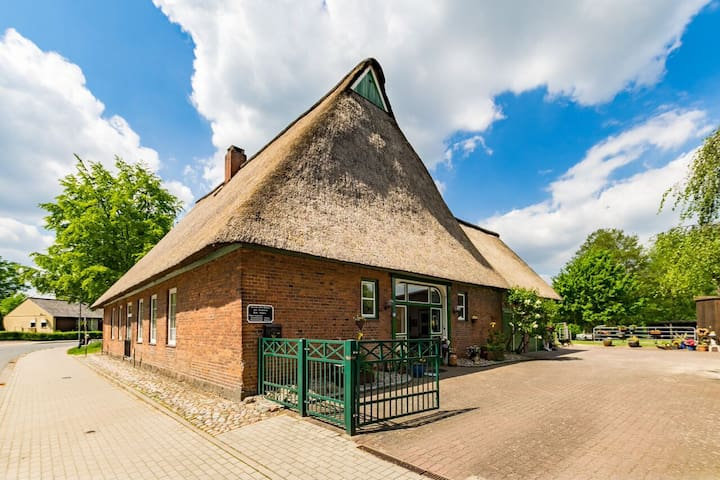 """Amazing thatch-roofed house """"Old School"""" from 1846"""
