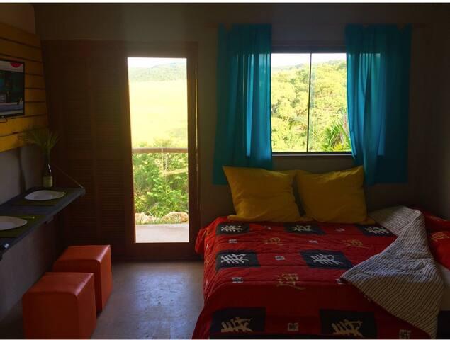 Villa Verde, Chalés com vista para as montanhas.