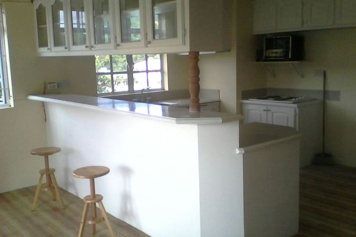 Kitchen/ bar area.