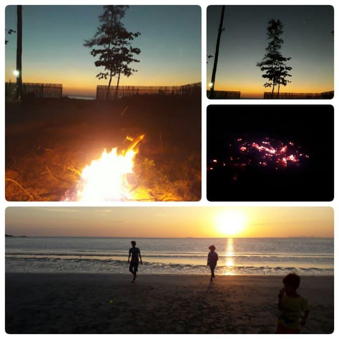 Campfires...quiet contemplation as the sun sets