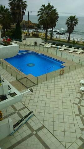 depto frente a Playa Amarilla,edif Playa Paraíso - Con Con - Apartment