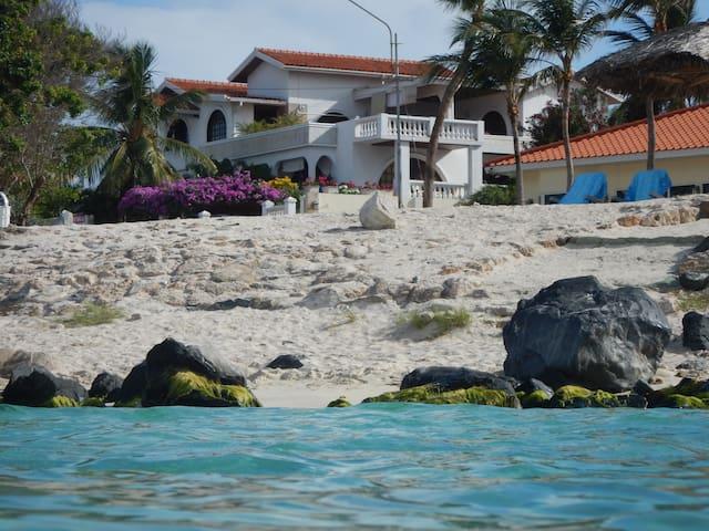 Beach white villa